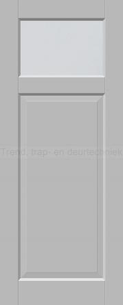 <h5>Trend 1582</h5><p>Paneeldeur uit te voeren met A1, A2, B1, B2 en C1 profilering.  Keuze uit beglazingssoorten, Blank glas, Satijn glas, Blank facet geslepen glas en Satijn facet geslepen glas.</p>