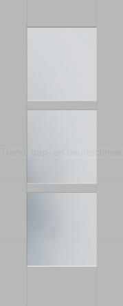 <h5>Trend D504</h5><p>Paneeldeur uit te voeren met C1 profilering.  Keuze uit beglazingssoorten, Blank glas en Satijn glas.</p>