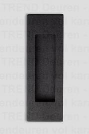<h5>TREND HAAKS BLACK</h5><p>BLACK schuifdeurkom type Haaks. Blind gemonteerd zonder schroeven. Zwarte coating met fijne structuur. Industriële uitstraling en oerdegelijk. Materiaal RVS.</p>